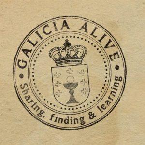 Logo de Galicia Alive - Fondo marrón
