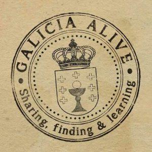 Logo Galicia Alive - Fondo marrón
