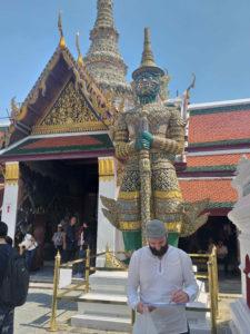 Estatuas de guerreiros en Grand Palace (Bangkok)