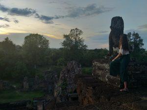 Posta de sol no templo de Pre Rup