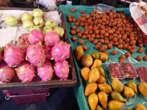 Mercado Nawarat no Barrio Chinés en Chiang Mai