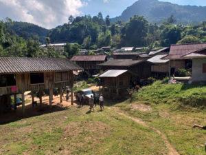 Poblado en Doi Inthanon