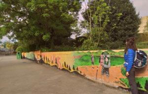 Sarria - mural dos peregrinos