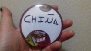 Chiña como concursante de La Voz